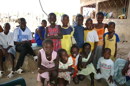 Kids at Galle Camera