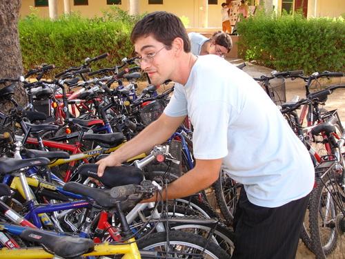 Matt Stealing Bike Parts from the Newbies